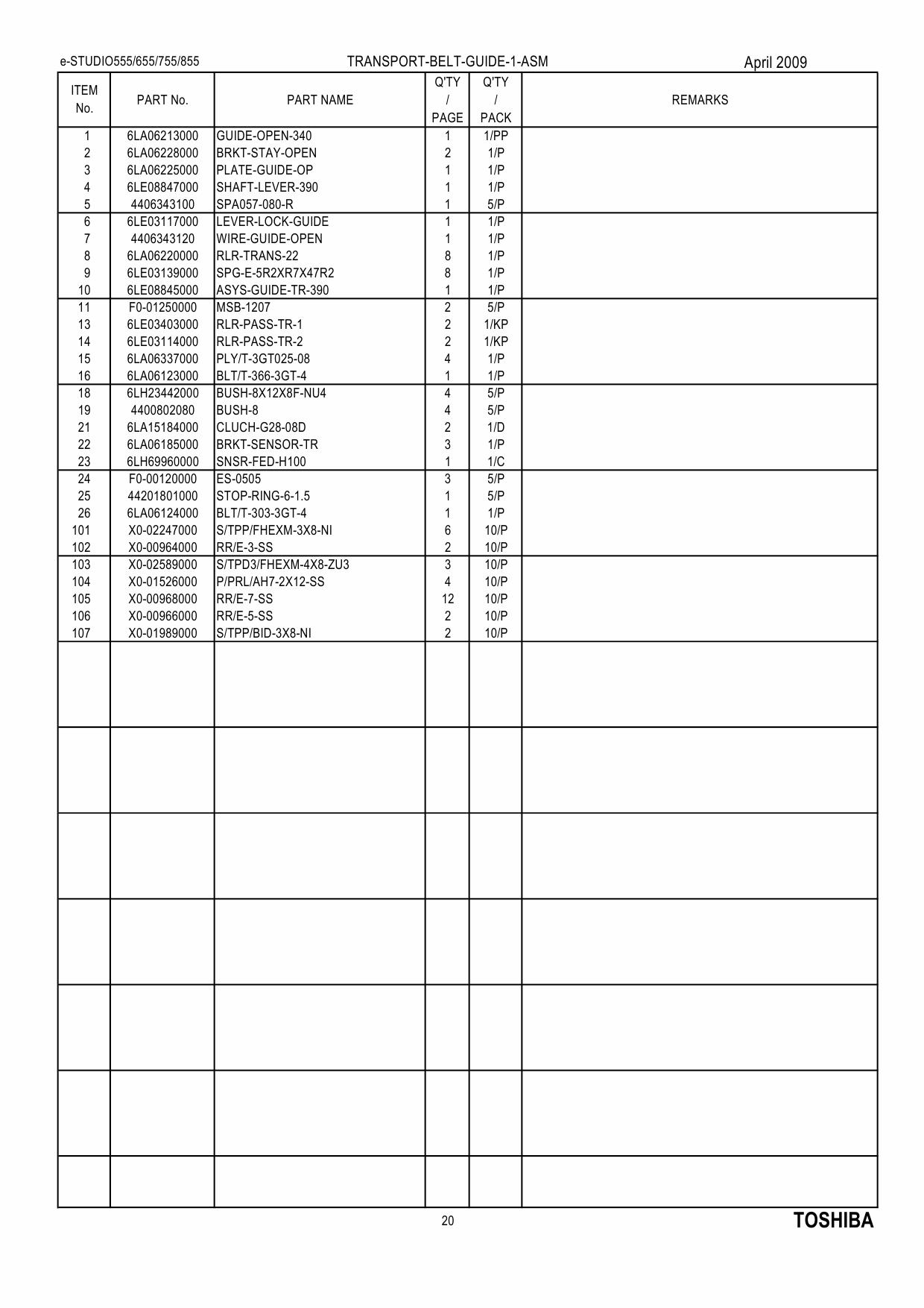 TOSHIBA e-STUDIO 555 655 755 855 Parts List Manual-6